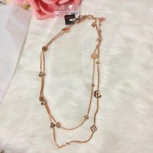 Henri Bendel Socialite Charm Rose Gold Necklace 💗